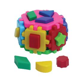 Логич.игрушка Куб Гексагон-1 1981 интелком /20/ купить оптом и в розницу