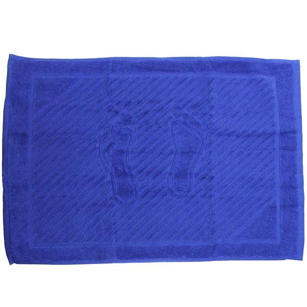 Махровое полотенце для ног 50*70см темно-синее купить оптом и в розницу