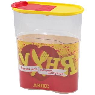 Банка для продуктов пластиковая ″Кухня Люкс″ 1,7л *27 купить оптом и в розницу