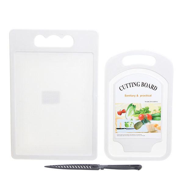 Доска разделочная пластиковая 29 см в наборе с ножом 2 шт купить оптом и в розницу