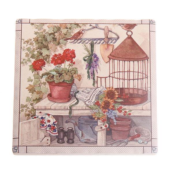 Подставка керамическая 9,5*9,5 см ″Дача″ в ассортименте купить оптом и в розницу