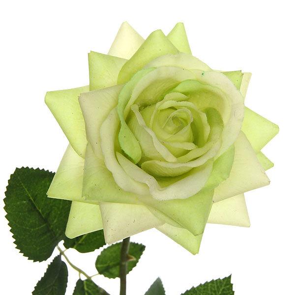 Цветок искусственный 70см декоративный Роза распустившаяся купить оптом и в розницу