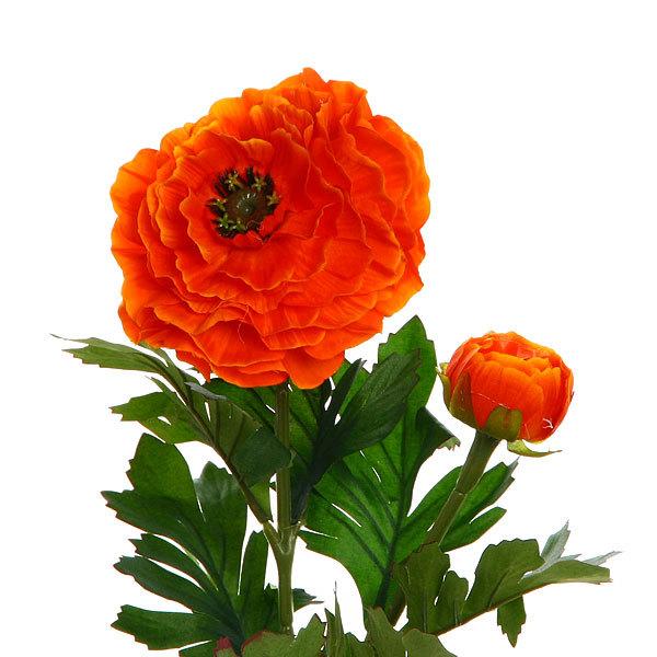 Цветок искусственный 80см декоративный Георгин 2цветка купить оптом и в розницу