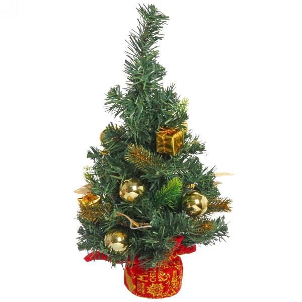 Ёлка 40 см украшенная с подвеской ″Золотого года″ купить оптом и в розницу