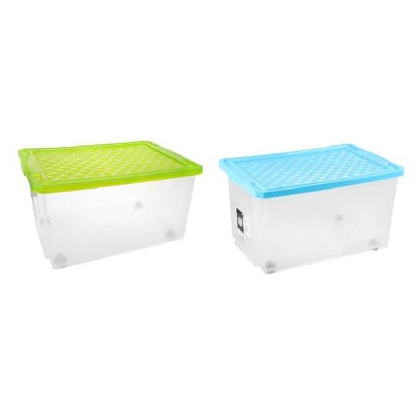 Ящик для хранения Systema 19 л зеленый прозрачный*9 купить оптом и в розницу