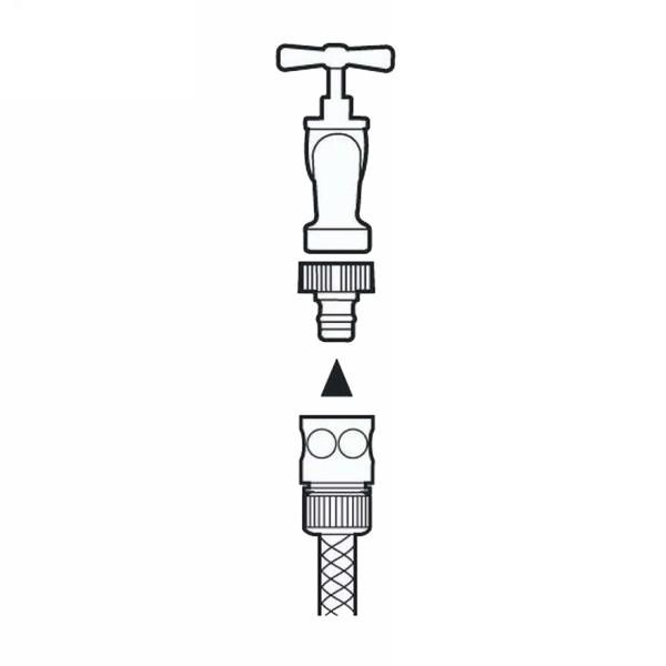 Коннектор стандартный 1/2″ GARDENA 02915-29.000.00 купить оптом и в розницу