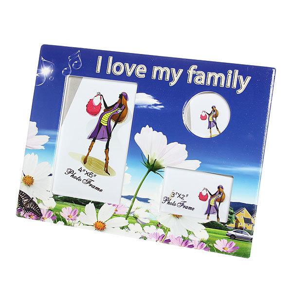 Фоторамка из керамики ″Семейная″ ромашки, 3 в 1 20*25 см купить оптом и в розницу