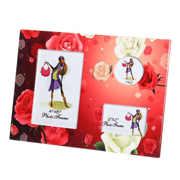 Фоторамка из керамики ″Семейная″ розы, 3 в 1, 20*25 см купить оптом и в розницу