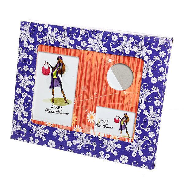 Фоторамка из керамики ″Семейная″ оранжевые ромашки, 3 в 1, 20*25 см купить оптом и в розницу