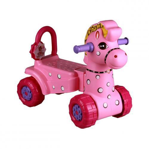 Каталка детская пл Лошадка розовая (Октябрьский) купить оптом и в розницу