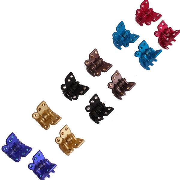 Заколка-краб для волос ″Цветочек″ со стразами МК-0453 купить оптом и в розницу