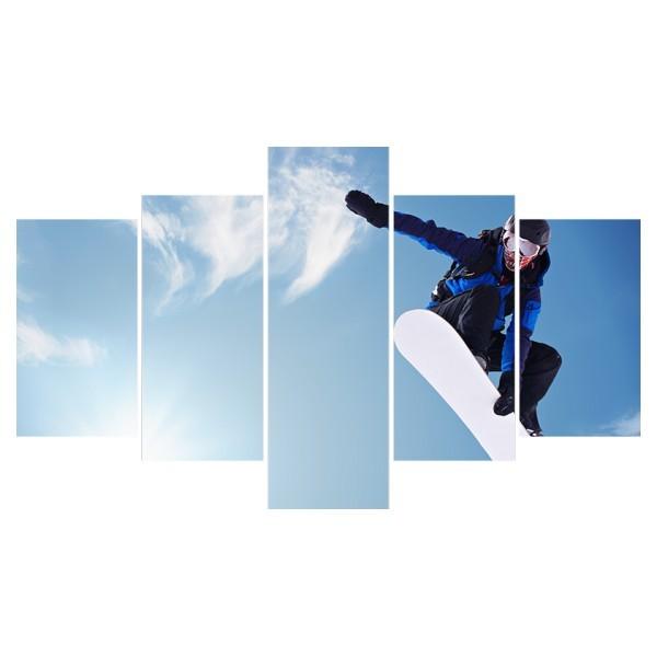 Картина модульная полиптих 75*130 см, сноубордист купить оптом и в розницу