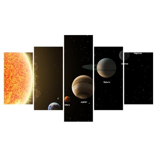 Картина модульная полиптих 75*130 Космос диз.9 87-02 купить оптом и в розницу