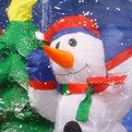 Фигура надувная ″Дед Мороз, снеговик и ёлка в шаре со снегом″ 1,8м купить оптом и в розницу