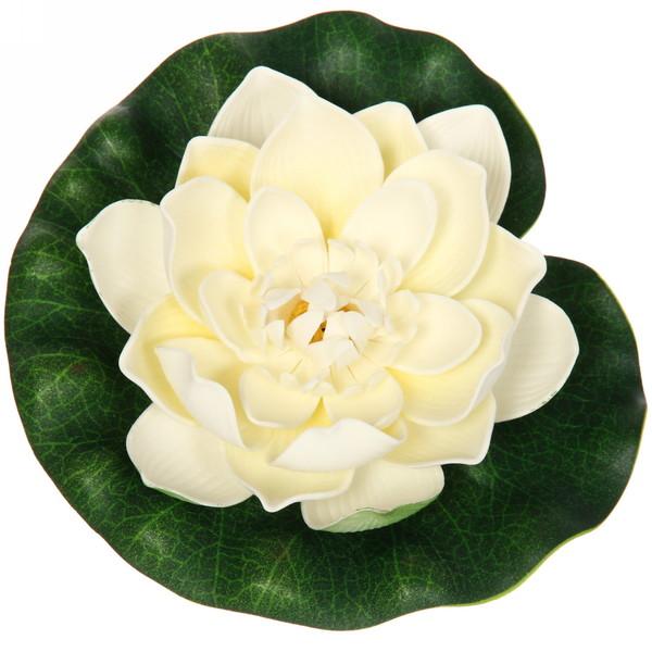 Растение водоплавающее ″Лотос″ d-18см белый купить оптом и в розницу
