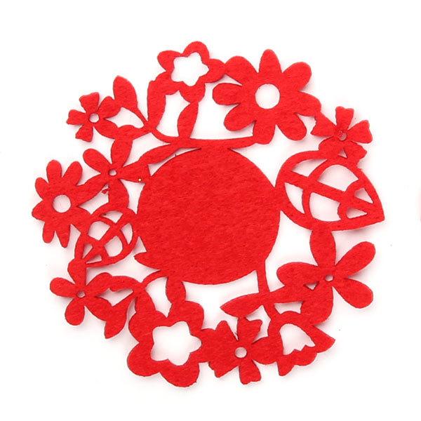 Подставка под кружку в наборе 4 шт 12 см ″Цветочный круг″ купить оптом и в розницу