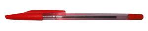 Ручка шар.YIWU 0,5мм красная, метал. наконеч., прозрач. корпус купить оптом и в розницу