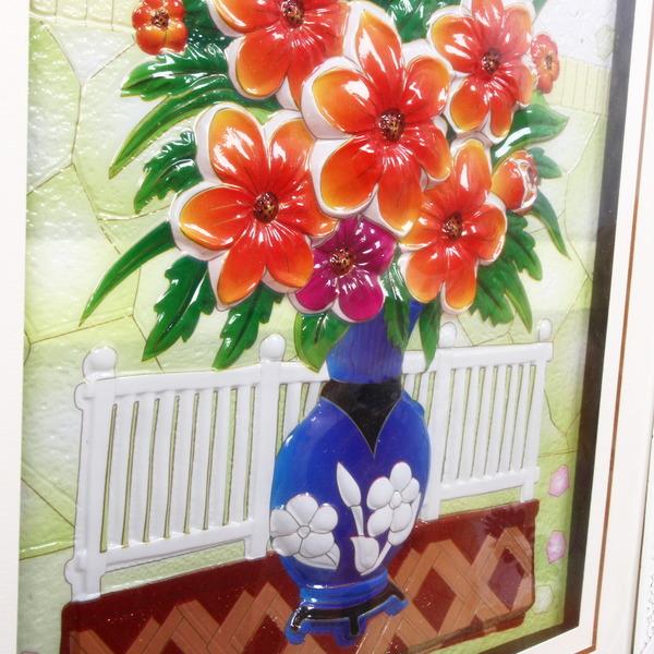 Картина объемная ″Цветы″ 59*70 см купить оптом и в розницу