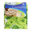 Скатерть ″Летнее настроение″ 120*150см, хризантемы зеленые Ультрамарин купить оптом и в розницу