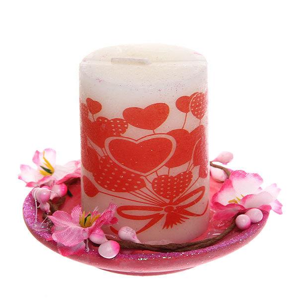 Свеча ″Валентинка″ Цветы 6см L12366 купить оптом и в розницу