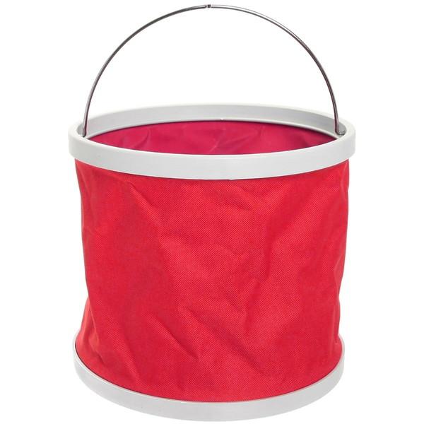Ведро складное 9л, d24см, h22см, цвет красный купить оптом и в розницу