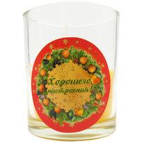 Свеча в стеклянном стакане ″Хорошего настроения″, Мандариновые дни (оранжевая) купить оптом и в розницу