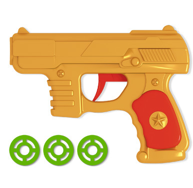 Пистолет дисковый в пак. 01361 /20/ купить оптом и в розницу