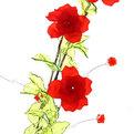 Цветок искусственный 60см декоративный Розы из акрила 2 купить оптом и в розницу