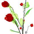 Цветок искусственный 60см декоративный Розы из акрила купить оптом и в розницу