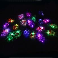 Гирлянда светодиодная на батарейках 3 х АА, 2м, 20 ламп LED, Символы НГ, RGB( красный,зеленый,синий) купить оптом и в розницу