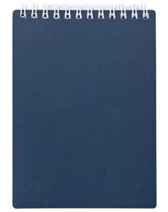 """Блокнот А7 80л.кл.спираль,пласт.обл.HATBER, """"Metallic Темно-синий"""" купить оптом и в розницу"""