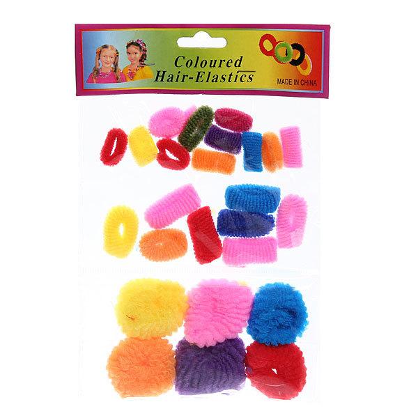 Резинки для волос 30шт ″Ассорти″, цвет микс купить оптом и в розницу