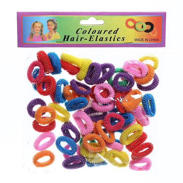 Резинки для волос 70шт ″Серебряные нити″, цвет микс купить оптом и в розницу