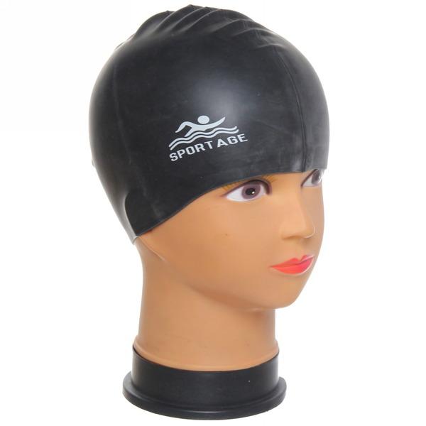 Шапочка для плавания силиконовая Sportage Black купить оптом и в розницу