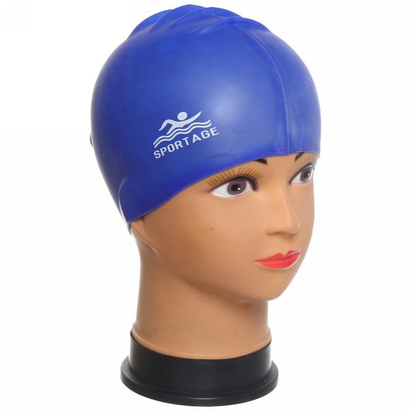 Шапочка для плавания силиконовая Sportage Ultramarine купить оптом и в розницу