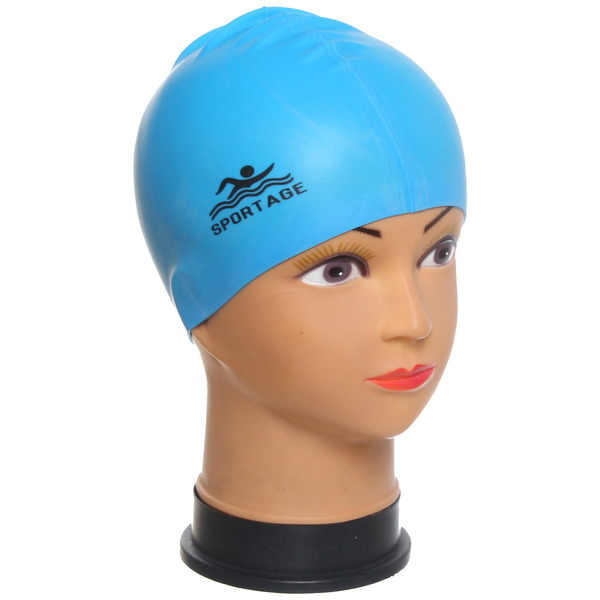 Шапочка для плавания силиконовая Sportage One Color купить оптом и в розницу