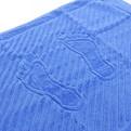 Махровое полотенце для ног 50*70см синее купить оптом и в розницу