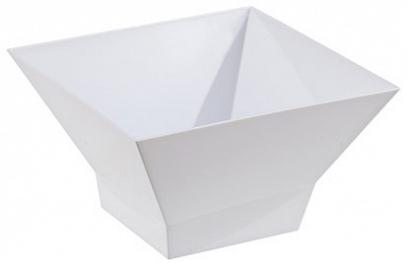 """Салатник """"Domino Kvadro"""" 1 л (снежно-белый)*28 купить оптом и в розницу"""