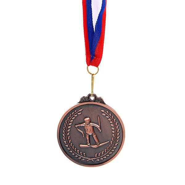 Медаль ″Лыжи″- 3 место (6,5см) купить оптом и в розницу
