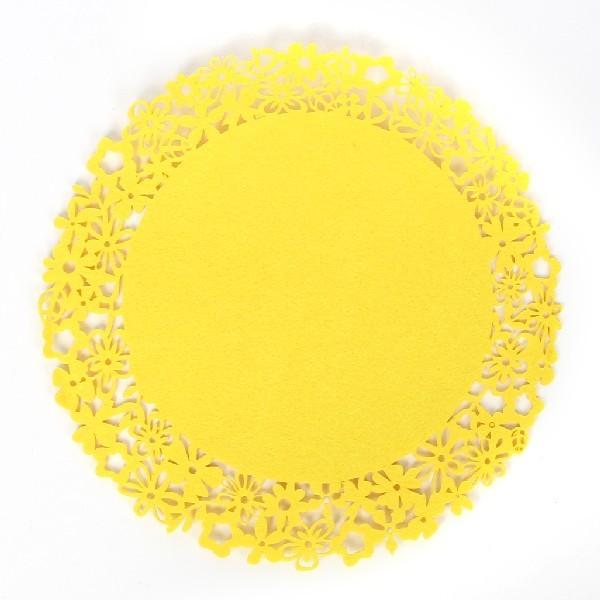 Салфетка на стол 38см Ажурная, Цветочный круг купить оптом и в розницу