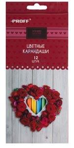 Цв.каранд.12цв PROFF Hearts к/у купить оптом и в розницу