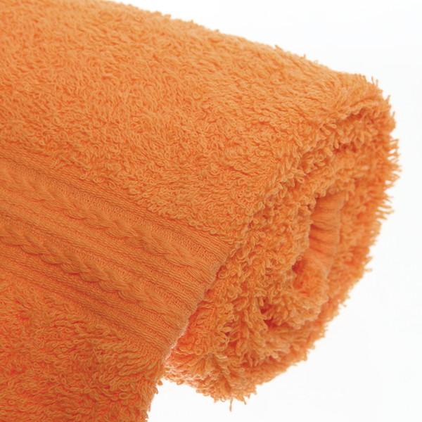 Махровое полотенце 40*70см оранжевое ЭК70 Д01 купить оптом и в розницу