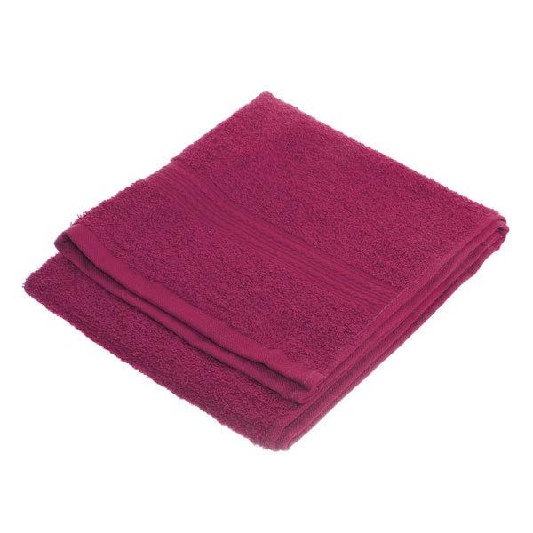 Махровое полотенце 40*70см малиновое ЭК70 Д01 купить оптом и в розницу