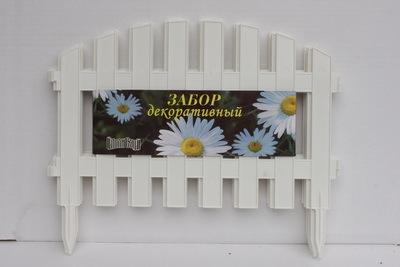 Забор декоративный № 2 (30*300) белый 1/5 купить оптом и в розницу