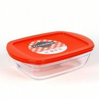 Блюдо прямоугольное с крышкой O CUISINE 23x15x6.5см 1.1л (1/6) купить оптом и в розницу