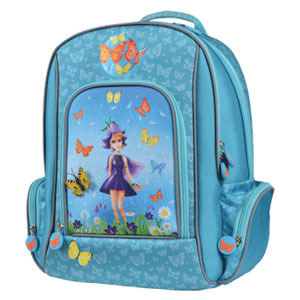 Ранец школьный PROFF Девочки-цветочки, 38см с 1 отд., 4 карм. купить оптом и в розницу