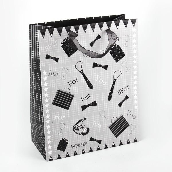 Пакет подарочный ″Стильный″ 32*26*12 купить оптом и в розницу