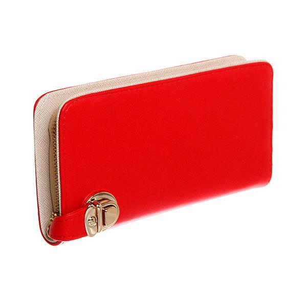 Кошелек женский ″Классика″ цвет красный, 4 отделения 20*10 купить оптом и в розницу
