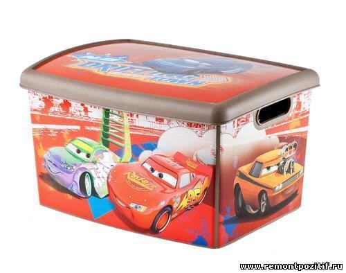 Коробка декоративная MADRID L DISNEY CARS(393*295* 220) Curver /10 шт купить оптом и в розницу