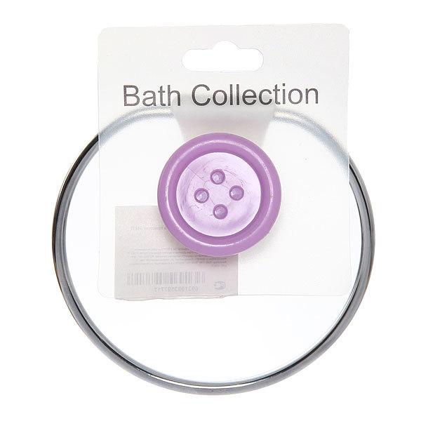 Держатель для полотенца на присоске, лиловая пуговка 11*15 см купить оптом и в розницу